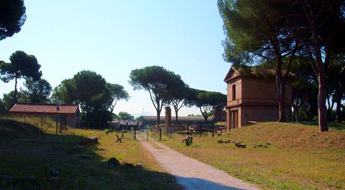 Archeological Park Tombs Via Latina Rome