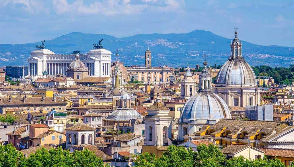 Vedere Roma Alto Terrazze Ammirare Vista Panorama